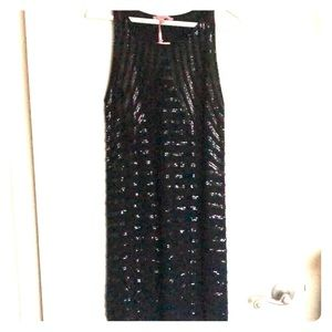 Calypso black sequined Raven Sweater Dress, Small